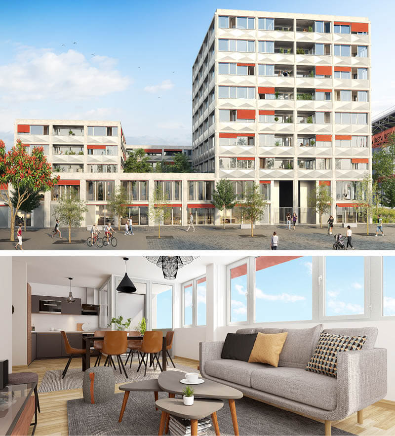Appartements Neufs Lille Fives Cail Ekko - Immotissimo 2020